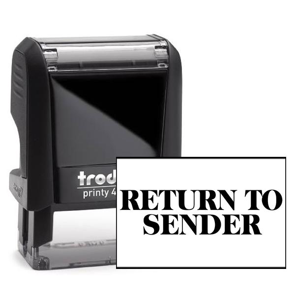 Return to Sender Block Stamp