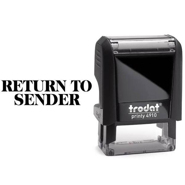 Return to Sender Block Stamp Body and Design