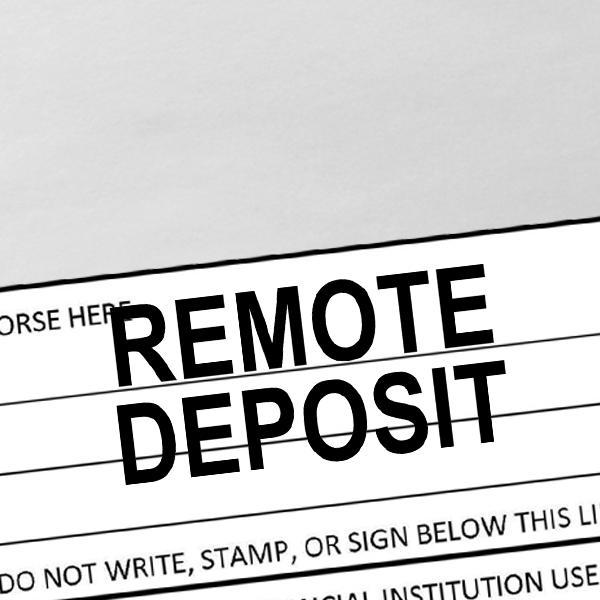Remote Deposit Stamp Imprint Example