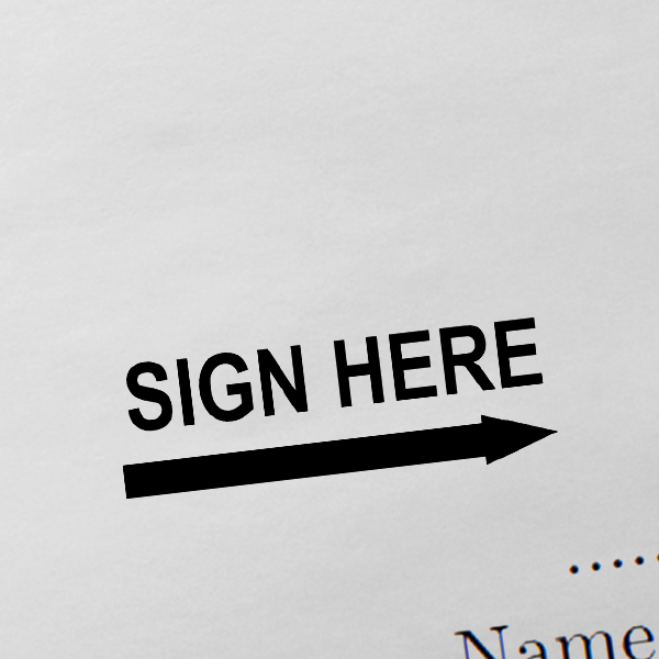 Sign Here Stamp Imprint Example