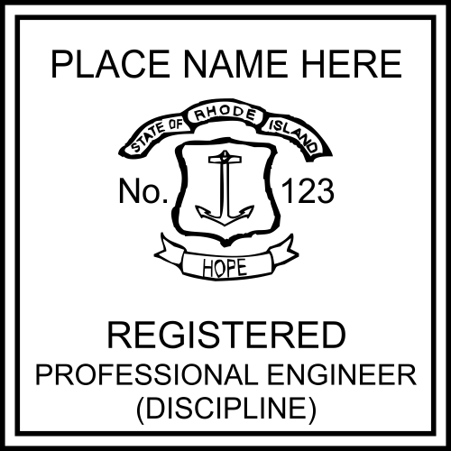 Rhode Island Engineer Seal Embosser