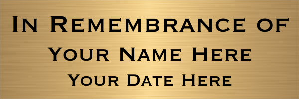 In Rememberance Brass Sign