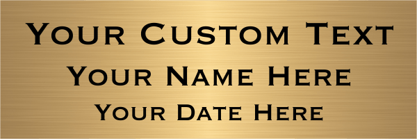 Custom Three Line Brass Sign