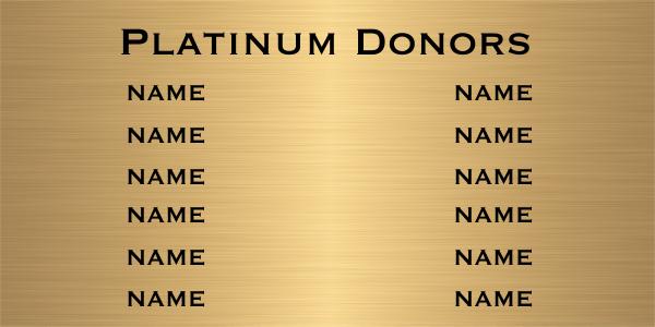12 Name Brass Plaque