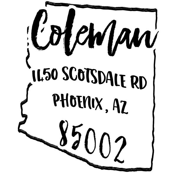 Custom Arizona Address Stamp