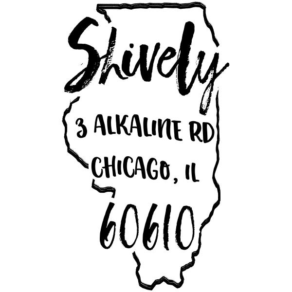 Custom Illinois Address Stamp