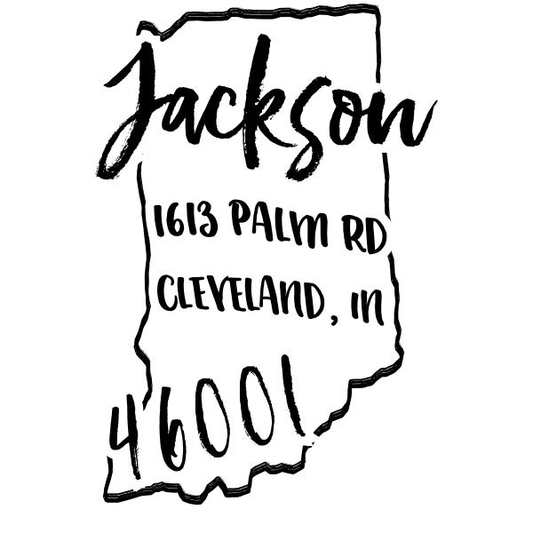 Custom Indiana Address Stamp