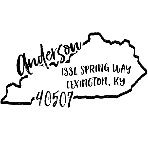 Custom Kentucky Address Stamp