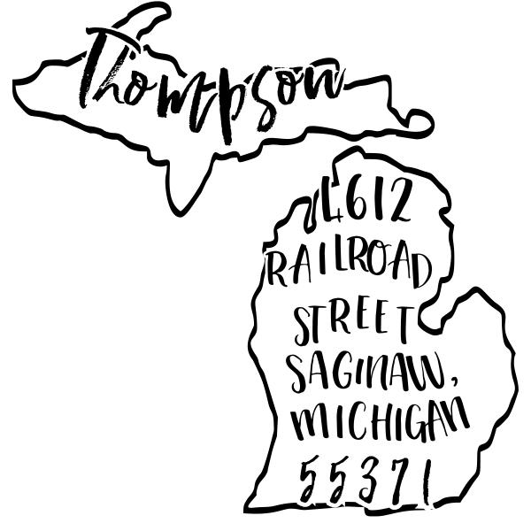 Custom Michigan Address Stamp