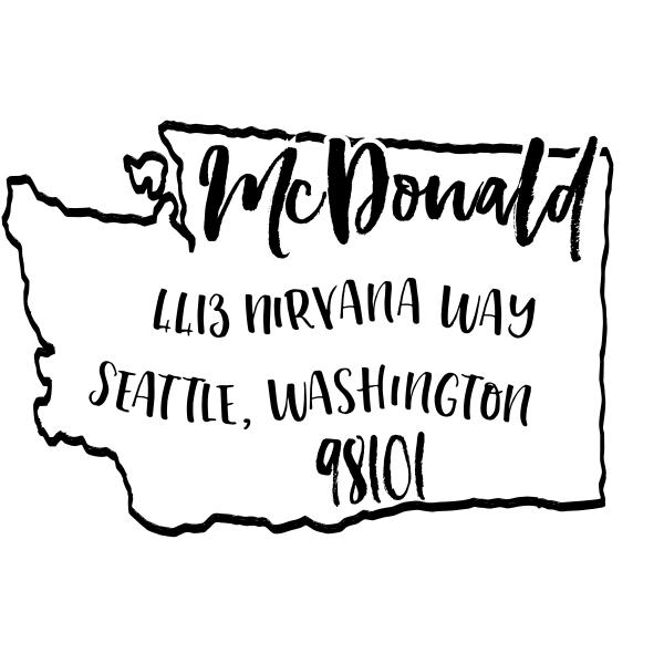 Custom Washington Address Stamp