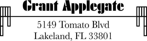 Applegate Address Stamp