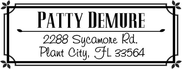 Demure Return Address Stamp
