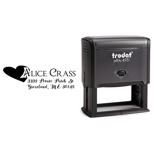Crass Return Address Stamp Body and Design