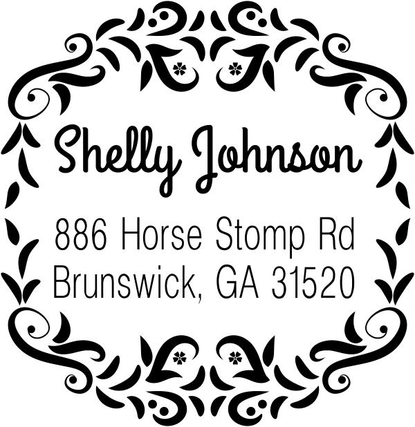 Horse Stomp Return Address Stamp
