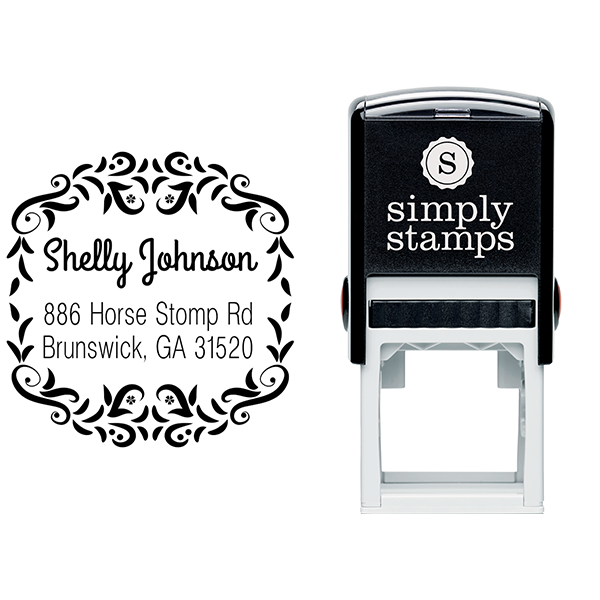 Horse Stomp Return Address Stamp Imprint Example
