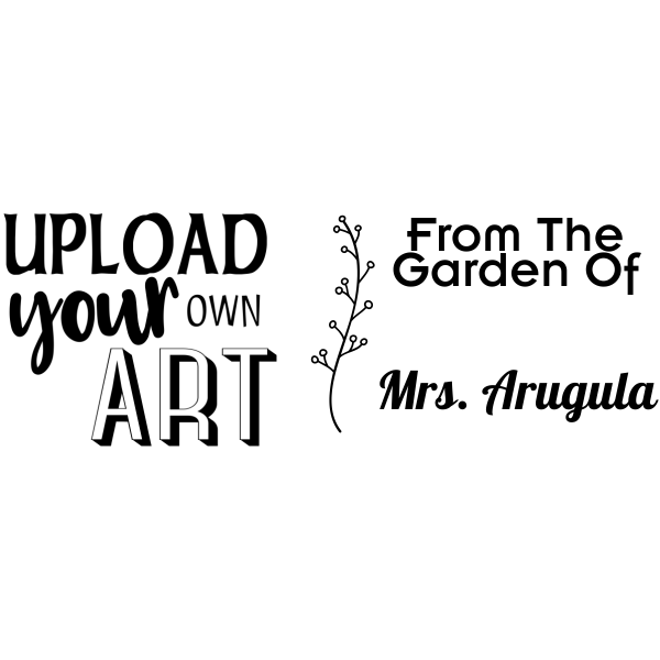 Arugula Rectangular Custom Logo Garden Stamp