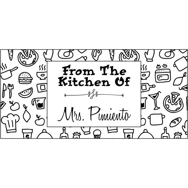 Pimiento Rectangular Pattern Kitchen Stamp
