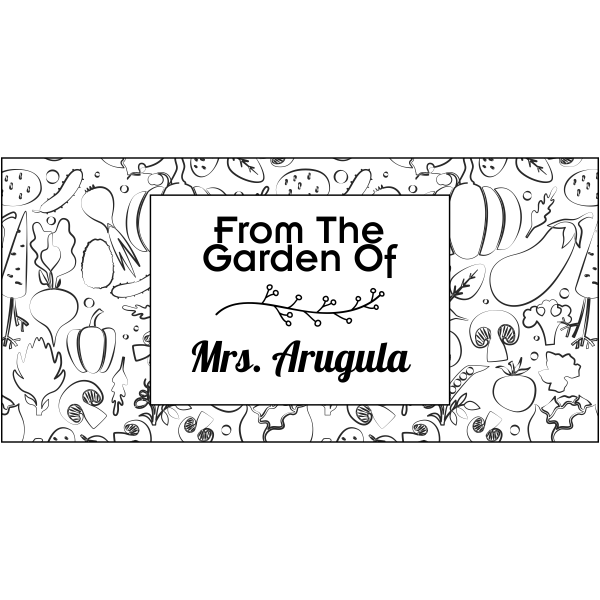 Arugula Rectangular Pattern Garden Stamp
