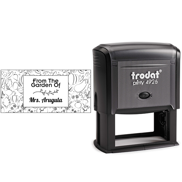Arugula Rectangular Pattern Garden Stamp Body and Design