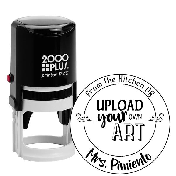 Pimiento Round Custom Logo Kitchen Stamp
