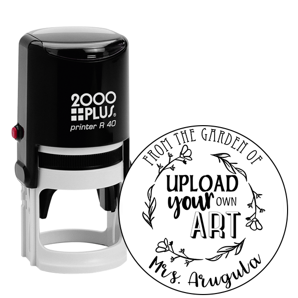 Arugula Round Custom Logo Garden Stamp