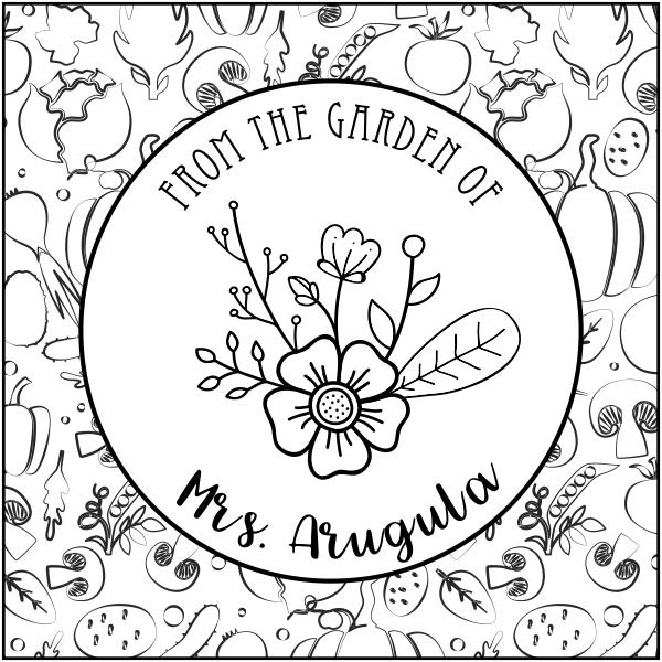 Arugula Round Pattern Garden Stamp