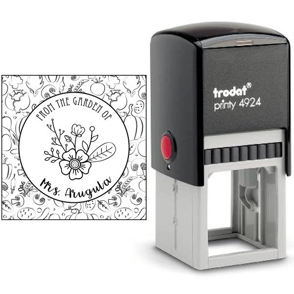 Arugula Round Pattern Garden Stamp Body and Design