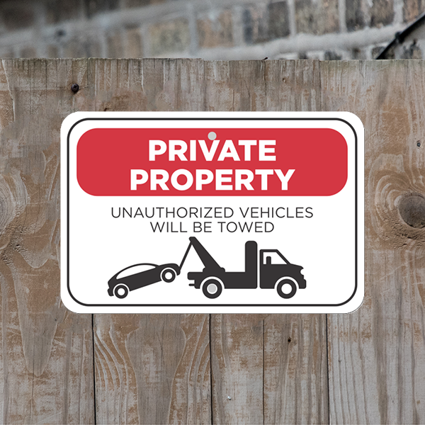 Mounted Horizontal Tow Away Private Property