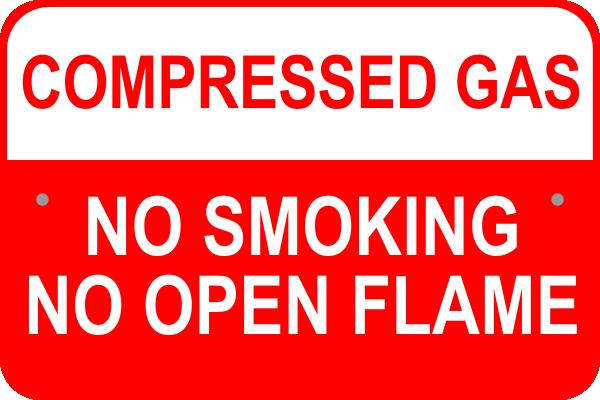 """Compressed Gas Aluminum Sign   12"""" x 18"""""""
