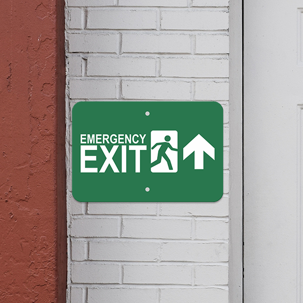 Mounted Horizontal Forward Arrow Emergency Exit Sign