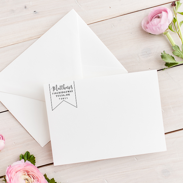 Matthews Pennant Address Stamp Imprint Example