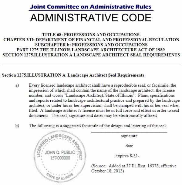 State of Illinois Dept.of Financial & Professional Regulation Statutes
