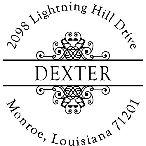 Dexter Vintage Deco Address Stamp