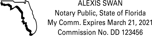 Florida Rectangle Notary Public Seal | State Shape