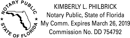 Florida Notary Public State Outline Seal