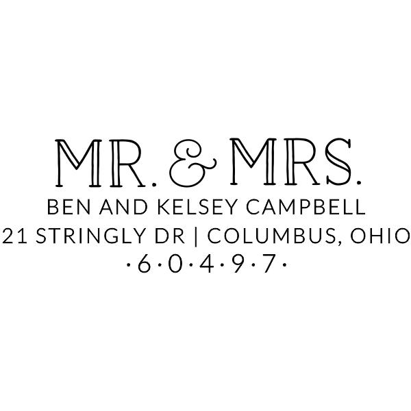 Campbell Wedding Address Stamp