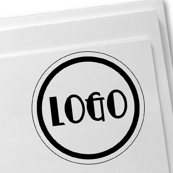 Mini Round Logo Stamp Imprint Example