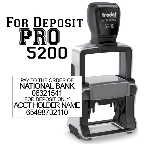 For Deposit Trodat Professional 5200
