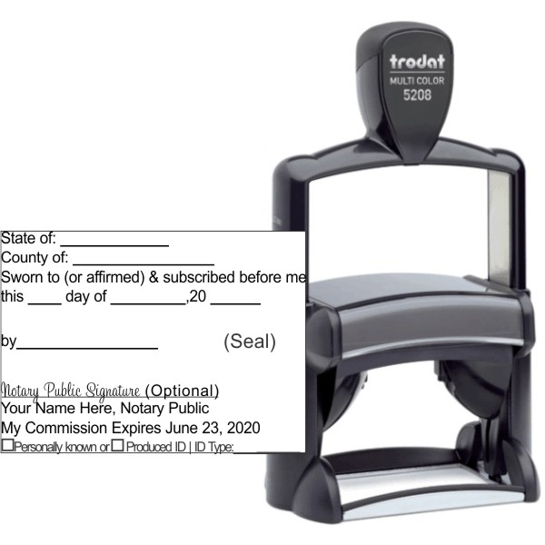 Jurat Trodat Professional 5208 | Ideal 6800 Self-Inking Stamp