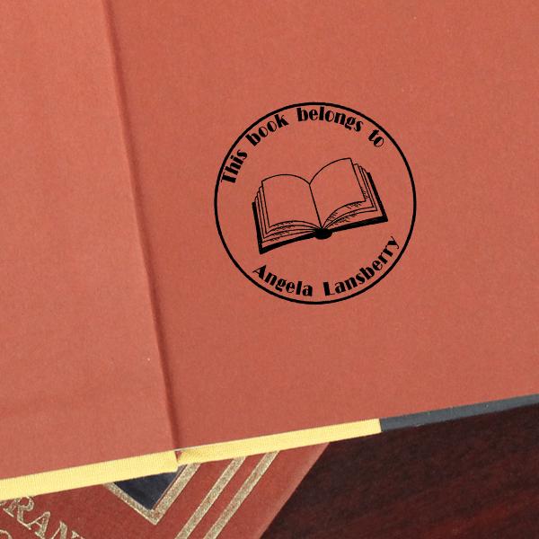 Round Open Book Stamp Imprint Example