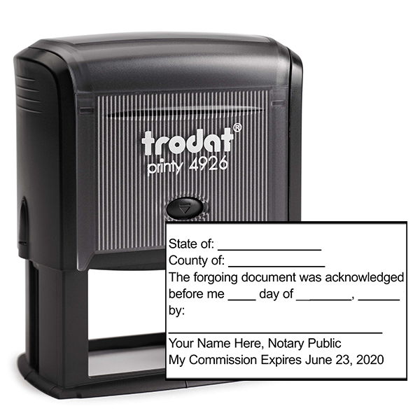 Acknowledgement in an Individual Capacity Notary Stamp