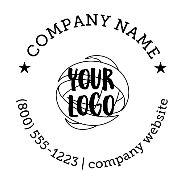 Round Logo for Wood Stamp