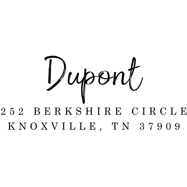Dupont European Return Address Stamp Imprint Example