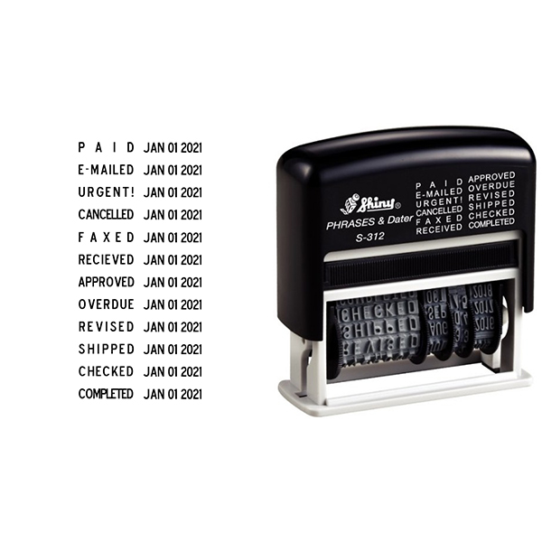 Shiny Micro Message Dater Stamp - 12 Messages Body and Imprint