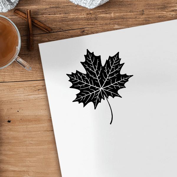 Maple Leaf Journal Stamp Imprint Example