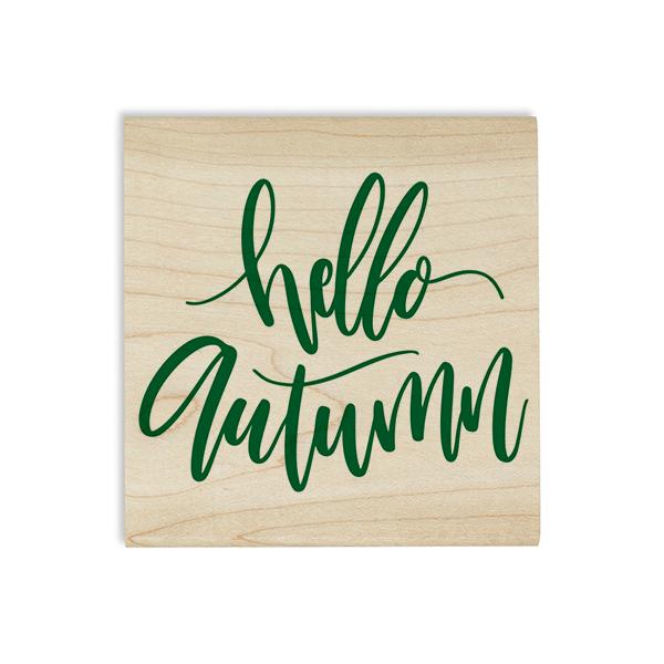 Hello Autumn Craft Stamp Body and Design