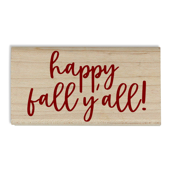 Happy Fall Y'all Craft Stamp Body and Design