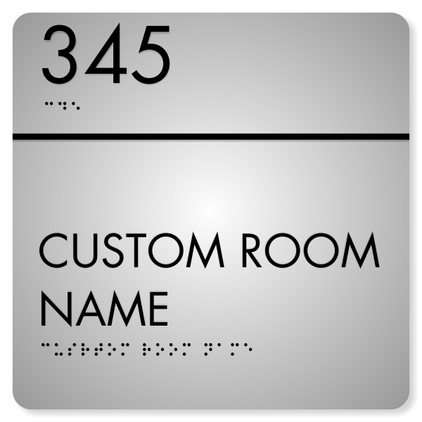 """Room Name and Number ADA Sign 