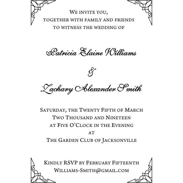 Formal Ornate Wedding Invitation Stamp