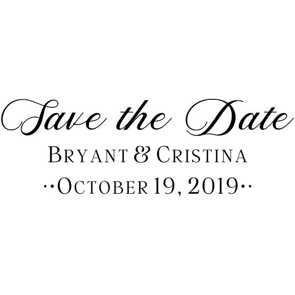 Christina Wedding Save the Date Stamp